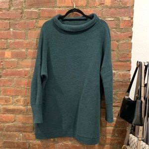 Free People Ottoman Slouchy Tunic, Forest Green, M